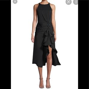 Ramy Brook midi blk dress 0